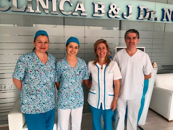 B&J dental clinic team in La Herradura